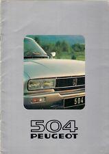 Peugeot 504 Coupe & Cabriolet 1980-81 Dutch Market Sales Brochure 2 Litre & V6