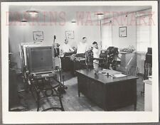 Vintage Snapshot Photo Navy Men Enlarging Photographs & Printing Press 694946