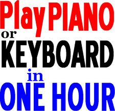 How to Play Piano / Keyboard Music Book / Games Beginners Lessons Learn in 1hour