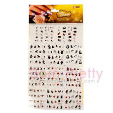 11Pcs/Set Nail Art Water Transfers Decals Stickers Halloween Skull Pumpkin Decor