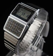 CASIO Databank Calculator Silver Watch DBC-611-1 Stainless Steel Original New !!