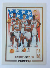 Barcelona USA Basketball Team Card Jordan, Ewing  1992 Skybox