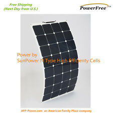 Semi-Flexible Bendable 100w 100 Watt Lightweight Solar Panel 12v Battery OffGrid