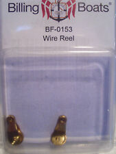 Billing Boats Accessory BF-0153 - 2 x 7mm x 16mm - Brass Wire Reel New Pack