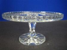 "Vintage ROYAL IRISH CRYSTAL Clear Cut Crystal 10"" Footed Cake Plate"