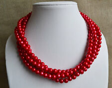 300Pcs Faux Pearls 5 mm -  Deep Red -Loose Beads  + FREE 20 pcs assorted  beads