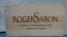ROGER SABON DU PAPE FRANCE WOOD WINE PANEL END
