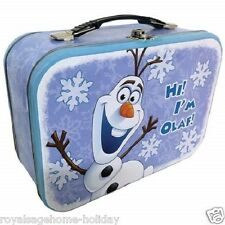 26405 Olaf Snowman Large Tin Tote Lunch Box Container School Disney Frozen