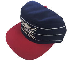 Fourstar Pirate Skull Pillbox sample snapback cap hat - Navy Blue - one size 116