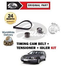 FOR VOLVO V70 D3 D4 D5 2000--  2.4 TDi 20V TIMING CAM BELT + TENSIONERS KIT