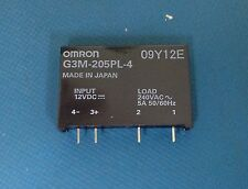 x1 **NEW** Omron G3M-205PL-4DC12 , Solid State Relay 12VDC , ROHS