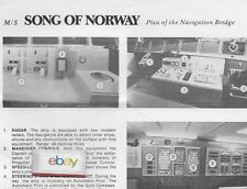 ROYAL CARIBBEAN CRUISE LINES M/S SONG OF NORWAY PLAN OF NAVIGATION BRIDGE