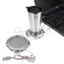 NUOVO SCALDA TAZZA USB CON 4 HUB PER TE CAFFE CAPPUCCINO LATTE ECC. PC LAPTOP