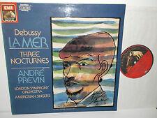ASD 1436321 Debussy La Mer Three Nocturnes Ambrosian Zingers LSO Andre Previn