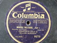 """78 rpm 12"""" WILLIAM MURDOCH [ piano solo ] SCHUBERT marche militaire 1&2"""
