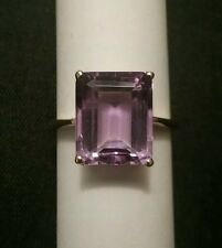 14K Yellow Gold Ring ($425.) 5.9Ct Violet Purple Amethyst Size 8  NWB