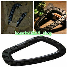 High Quality 1PC Plastic Carabiner DRing Key Chain Clip Hook Camping Buckle Snap
