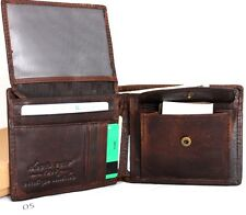 Genuine Leather men's vintage wallet Bifold Card Holder luxury multi credit card