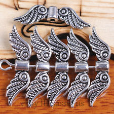 30 Pieces 23*7mm Charms Angel Wing Spacer End Beads Tibetan Silver Jewelry A7096