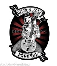 Rock´n Roll Forever Aufkleber Sticker Rockabilly Hotrod Oldschool US Cars Retro