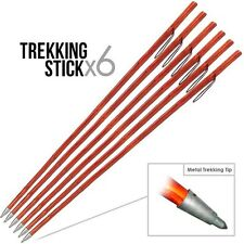 (6) 52 Natural Wood Hardwood Walking Hiking Trekking Wooden Stick Pole Staff