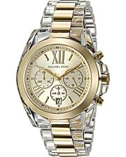 Michael Kors Watch MK6319 Chronograph Bradshaw Goldtone Acetate Watch Agsbeagle