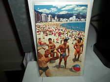 All Occasion Greeting Card New In Plastic Blank Inside? Retro Bikini Beach Men