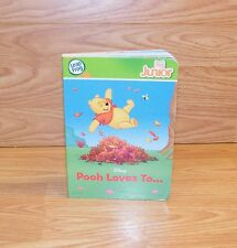 Genuine Leap Frog Tag Junior Walt Disney Pooh Loves To- Hard Back Book **READ**