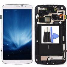 Para Blanco Per Samsung Galaxy I9200 Mega 6.3 Pantalla Lcd Táctil Digitalizado