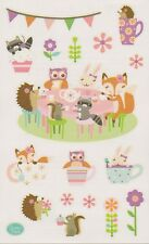 Mrs. Grossman's Giant Stickers - Woodland Tea Party - Hedgehog, Owl - 2 Strips