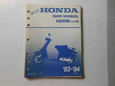 HONDA OEM Shop Manual NB50M aero50 83-84 # 61GE801