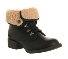 Womens Blowfish Karona Ankle Boots Black Fold Over Size 3 New £18..99