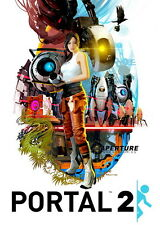 "024 Portal 2 - First Person Puzzle Platform Video Game 24""x34"" Poster"
