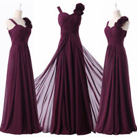 Long Maxi Evening Dresses Formal Party Ball Gown Prom Bridesmaid Dress UK 6-20