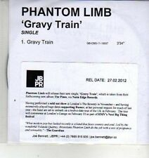 (CX190) Phantom Limb, Gravy Train - 2012 DJ CD