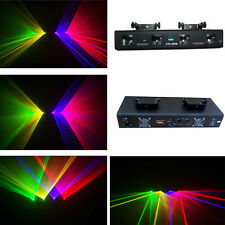Brand New Quad RGVY laser projector  DMX disco stage DJ laser light show system