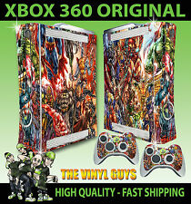 Xbox 360 pegatina Marvel Dc Action Hero Superhéroes Skin & 2 Control Pad Skins