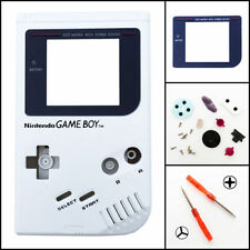 Nintendo Game Boy Original DMG-01 Housing Shell GLASS Screen Lens White
