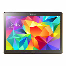 "Samsung Galaxy Tab S SM-T800 16GB Wi-Fi 10.5"" Bronze / Gold U/BB Tablet"