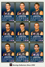 2009 AFL Teamcoach Trading Card Silver Parallel Team set Carlton (11)