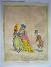 "JAMES GILLRAY. "" A CORNER NEAR THE BANK."" VERY RARE."