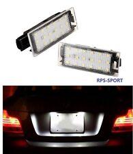2 éclaireurs de plaque AR à LED CANBUS blanche BLANC PUR 6000K  CLIO 3 RS