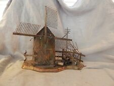 Vintage Metal (Copper?) Music Box Windmill Hong Kong Windmill of Your Mind