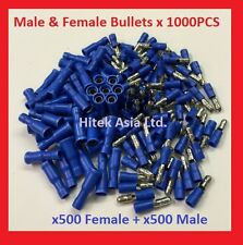 Male Bullet Crimp Terminals, Blue, 16-14 A.W.G , 1000PCS