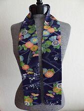 """Japanese Silk Kimono Obi Belt Vintage Fabric KIKU Chrysanthemum Print/ 50""""L"""