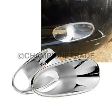 2xTriple Chrome Front Fog Light Cover Moulding Trim for 08 09 10 Honda Accord CT