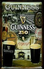 GUINNESS 250 YEARS Vintage Metal Pub Sign | 3D Embossed Steel | Home Bar | Irish