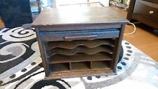 1910's Rare Antique Roll Top Desk Organizer Oak - Must Have for Dad's Desk