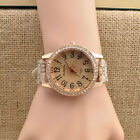 Fashion Women's Lady Girls Geneva PU Band Rhinestone Wristwatch Dress Watch