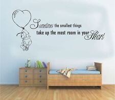 wall stickers winnie the pooh smallest things vinyl decal decor Nursery kids